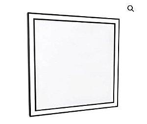 Luminária Espelho Mirror Edge Preto 62x62x4cm 1xLED 50,4W Bivolt 127V / 220V Newline ES0432LED3PT
