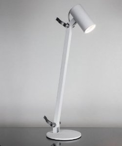 Luminária de Mesa Lisse Branca 1xMini Dicróica LED  Bivolt 127V / 220V 58x36x15cm Newline 222BT