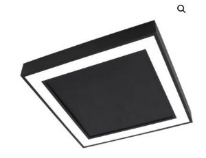 Plafon Fit Edge 25,2w 3000k 127/220v 30x30x4cm Preto Total  Newline PL0122LED3PT