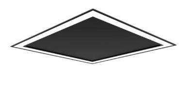Embutido Fit Edge Preto 33,6W 4000K 127/220V 42x42x4cm Newline EM0123LED4PTPT
