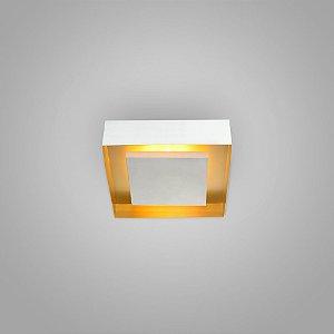 Luminária Sobrepor Quadrada 260x260x75mm 4xG9 Itamonte Nac 3045/26