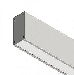 Perfil Sobrepor com Facho Simples Linear W96 14,4W 12 VDC 1350Lm IP20 2MT Misterled SLED 9006 2M