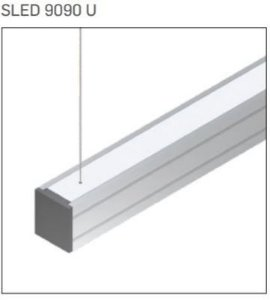 Pendente/Perfil Minimalista Sistema de Iluminação Linear P10 2,20MT Misterled SLED 9090 P10 U 220