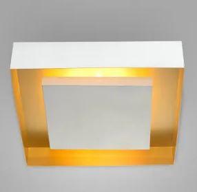 Painel Sobrepor Quadrado 34cm 3xE27 LED Bulbo A60 Eclipse Cor Branco Itamonte Nac 3045/34