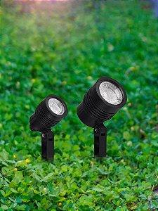 Espeto Para Jardim Noir Led 3000K Foco Direcionável 3W Autovolt 100-240V  44x245mm Taschibra 7897079084788