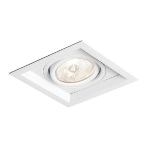 Embutido Recuado II AR111 LED GU10 GZ10 Bivolt 179X179X85mm Cor Branco Total Newline IN51351BT