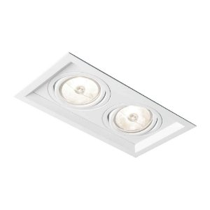 Embutido Recuado II AR111 LED GU10 GZ10  Bivolt 179X324X85mm Branco Total Newline IN51352BT
