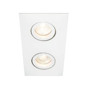 Embutido Lisse II Duplo Retangular 24x14x10cm AR70  LED GU10 GZ10 Bivolt Newline IN55542