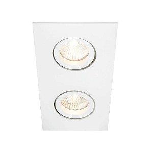 Embutido Lisse II Duplo Retangular 31x16x7cm AR111 LED GU10 GZ10 Bivolt Newline IN55552