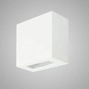 Arandela 2 Fachos Alumínio e Vidro Transparente 10x10x05cm 1xG9 Led Integrado Itamonte Nac 233/2