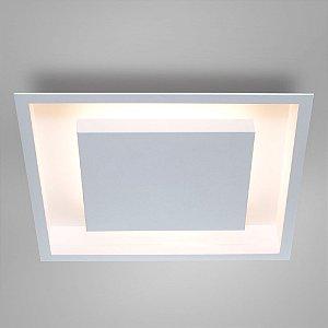 Luminária Embutir Eclipse Quadrada 4E27 50cm Cor Branco Texturizado com Branco Itamonte Nac 2041/50/4E27BTBT