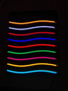 Fita Led Neon Silicone 12v 7.4W IP68 1MT 120LM Cor Azul Tiffany Alpertone 0148AZT