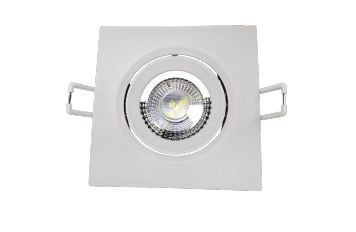 Spot LED Quadrado Modelo Supimpa 3W AM3000K 70x70mm Branco Avant 865440577
