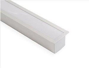 Perfil Embutir de Alumínio Full Difusor Leitoso Barra 250cm Cor Branco Revoled AP0601W
