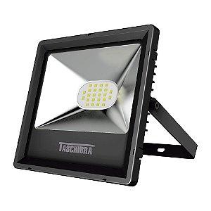 Refletor TR LED 50W 3000K 310x260x35mm Cor Preto Taschibra 7897079079159