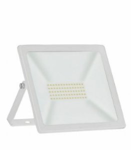 Refletor TR LED Slim 50W 6500K 305x255x30mm Cor Branco Taschibra 7897079085136