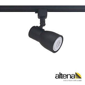 Spot Dome com Plug Altrac para Trilho Eletrificado PAR20 E27 Cor Preto Fosco Altena ALT08020PF