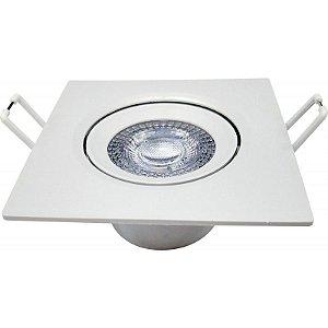 Spot Embutir Quadrado LED 3W 6500K Bivolt 55x70x70mm Cor Branco  Avant 865441376