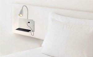 Arandela Haus com Entrada USB 23x20x29cm 1xGU10 LED  20W  127V / 220V Cor Branca Casual Light  AR1445BR
