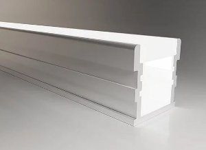 Perfil Terra Alumínio Embutir no Piso 3 Metros 26x26mm e 6 Acabamentos Laterais Alpertone C2626 3MT