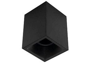 Plafon Sobrepor Recuado Direcionável Square Out 1xPAR20 Alumínio Cor Preto Stella STH20920PTO