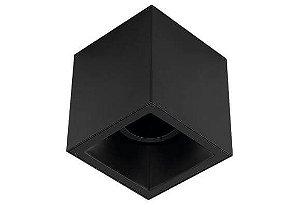 Plafon Sobrepor Recuado Direcionável Square Out 1xAR70 GU10 Alumínio Cor Preto Stella STH20930PTO