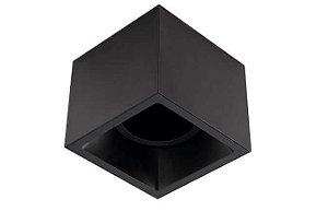 Plafon Sobrepor Recuado Direcionável Square Out 1xAR111GU10 Alumínio Cor Preto Stella STH20935PTO