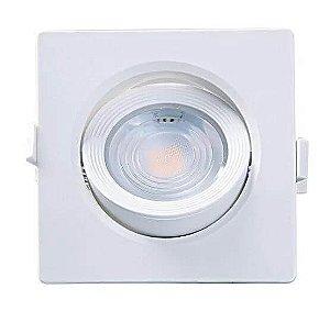 Spot Embutir Quadrado Alltop 7W PAR20  3000K 120x120x55mm Branco Taschibra 7897079083583