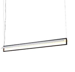 Pendente Linter Alumínio  18x122,5x150cm  Led 25W 3000K Cor Preto Fosco Mais Luz PE-124/25.122PF