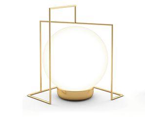 Abajur Campânula 1 Alumínio Globo de Vidro 1xG9 127v/220v 15x14x12cm  Acabamento Dourado/Latonado Klaxon  12010351DOU