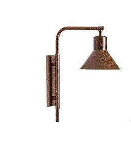 Arandela Tedesca P Articulada Metal 60x29,5cm 1xE27 LED Cor Corten Foco Metallo AR 126/P