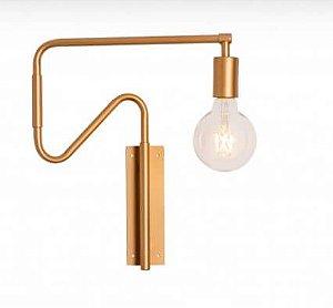 Arandela Narni Articulada Metal 37x52,5x06cm 1xE27 LED Cor Gold Foco Metallo AR 116
