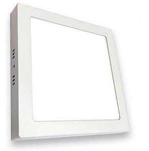 Painel Sobrepor Quadrado Slim Ecoled 18w 6500k Autovolt 225x225x30mm Branco G-Light 7899605518453