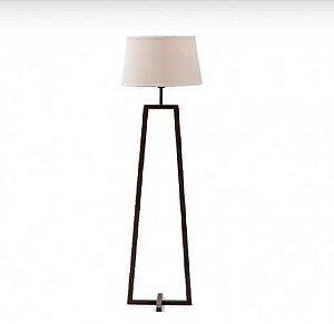 Coluna Spazio Metal e Tecido 40x158cm 1xE27 Led Cor Marrom Foco Metallo CO 305