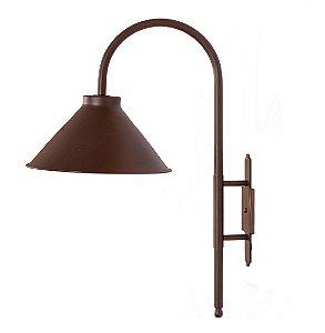 Luminária de Jardim Metal 26x48,5x68cm 1xE27 Led Cor Marrom Foco Metallo J 001/26