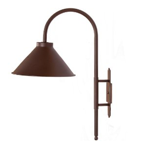 Luminária de Jardim Metal 31x56,5x70cm 1xE27 Led Cor Marrom Foco Metallo J 001/31