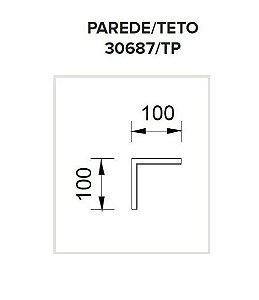 Junção Teto/Parede Sistema de Embutir Linear Wood 100x100mm Usina 30687/TP