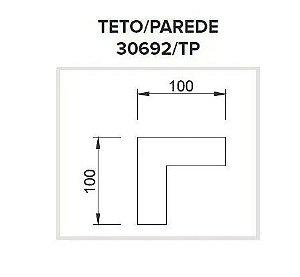 Junção Teto/Parede Sistema de Sobrepor Linear Polo 100x100mm Usina 30692/TP