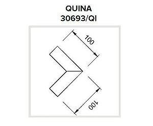 Junção Quina Sistema de Sobrepor Linear Polo 100x100mm Usina 30693/QI