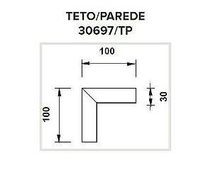 Junção Teto/Parede Sistema de Embutir Linear Polo 100x100mm Usina 30697/TP