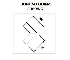 Junção Quina Sistema de Embutir Linear Polo 100x100mm Usina 30698/QI