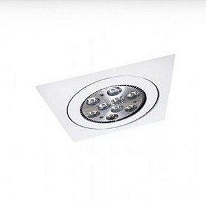 Embutido Face Plana Orientável Quadrado Alumínio AR70 10x10x4cm Acabamento Branco Impacto 2024
