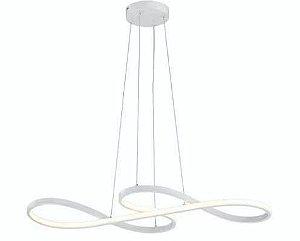Luminária Strip LED Integrado 3000K 36W  80x35cm 02 Metros De Cabo Cor Branca Skylight SKY-3016