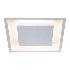Painel Embutir Eclipse Quadrado Alumínio 38x38x7,5cm 3xE27 LED Bulbo A60 Itamonte Nac 2041/38 E27