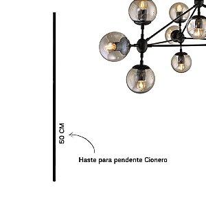 Haste para Pendente Cionero 50cm Cor Preto Fosco Stella SD8379