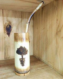 Cuia + Bomba para Tererê - Bambu