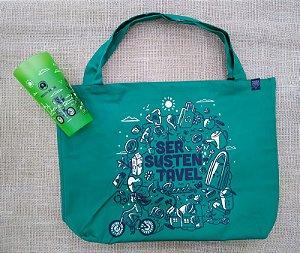Moeda Verde - Ecobag + Copo (sem alça)