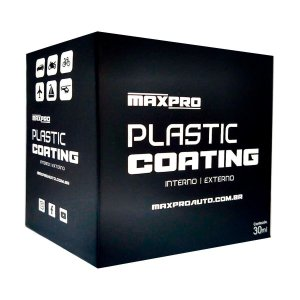 Maxpro Plastic Coating - Vitrificador Plásticos Alto Rendimento 30ml