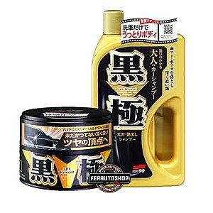 Cera Kiwami Dark Wax, Brilho Profundo Para Cores Escuras - 200g + Shampoo Extra Gold 750ml - Soft99