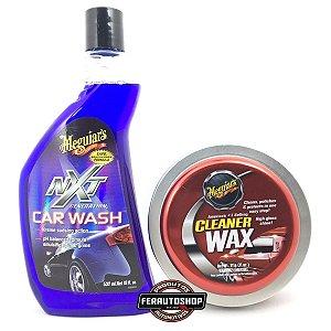 Kit Cera Cleaner Wax 311g + Car Wash Shampoo Nxt 532ml - Meguiars